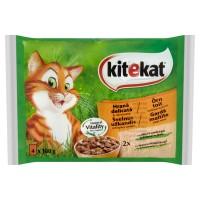 Hrana umeda pentru pisici Kitekat, adult, cu miel si iepure, 4 x 100 g