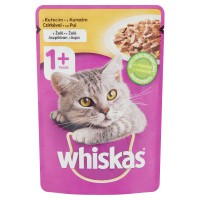 Hrana umeda pentru pisici Whiskas, adult, carne de pui, 100g
