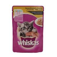 Hrana umeda pentru pisici, Whiskas, junior, carne pasare, 100 g