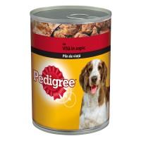 Hrana umeda pentru caini Pedigree, adult, carne de vita, 400g