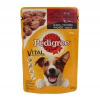 Hrana umeda pentru caini, Pedigree adult, carne de vita si iepure, 100g