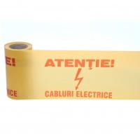 Banda avertizare retele electricitate, 0.25 x 100 m