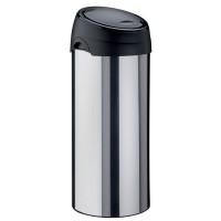Cos gunoi Meliconi din inox, forma cilindrica, cromat, soft touch, 40L