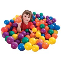 Minge colorata Intex Fun Ballz, D 6.5 cm, set 100 bucati