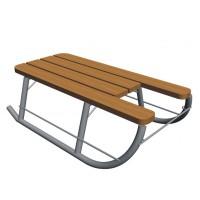 Sanie pentru copii, Pro, metal + lemn, 65 x 38 x 20.8 cm