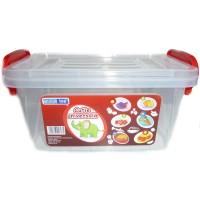 Cutie universala pentru alimente, select, plastic, dreptunghiulara, transparenta, 3 L