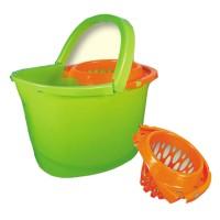 Galeata din plastic cu storcator Plastina, verde, 13L