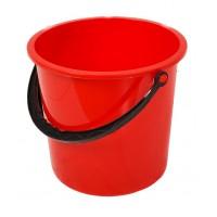 Galeata din plastic, rotunda, stk, rosie, 10 L