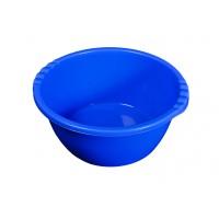 Lighean rotund, plastic, albastru, 22 L, 480 x 220 mm
