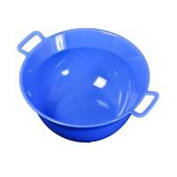 Lighean rotund cu manere, plastic, albastru, 6 L, 330 x 150 mm