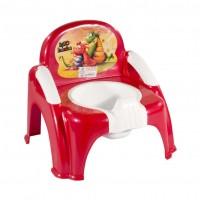 Olita scaunel stk din plastic pentru copii, diverse culori, ovala, 290 x 290 x 310 mm