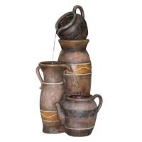 Fantana arteziana Grunman MZ05239GA, decoratiune gradina, cu pompa recirculare apa, 35 x 35 x 75 cm