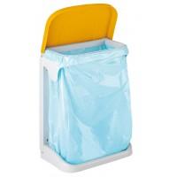 Suport din plastic pentru saci menajeri / gunoi, diverse culori, 20L