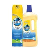 Spray curatare mobila Lime + solutie curatare parchet Lemn curat Pronto