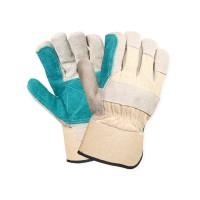Manusi de protectie Gantex Com EM3, din piele spalt + textil, dublu intarite, marime universala