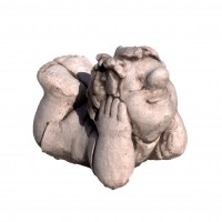 Statuie Beate, decoratiune gradina, beton, 22 x 23 x 33 cm