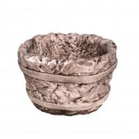 Ghiveci din beton, aspect piatra, oval, pentru exterior, 38 x 30 x 26 cm