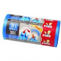 Saci menajeri / gunoi Fino Easy Pack, cu prindere, albastru, 35L, 50 x 56 cm, 30 buc