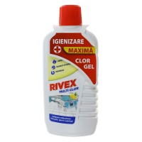Solutie universala de curatat cu clor Rivex, parfum lamaie, 900 ml