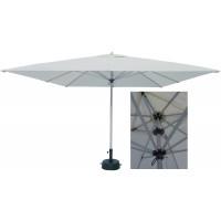 Umbrela soare, pentru terasa, patrata, structura aluminiu, telescopica, natur, 350 x 350 x 290 / 350 cm