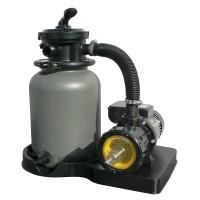 Pompa filtrare apa + filtru + vana 6 cai, pentru piscina, 4 mc/h + accesorii