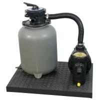 Pompa filtrare apa + filtru + vana 6 cai, pentru piscina, 6 mc/h + accesorii