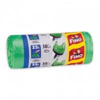 Saci menajeri / gunoi Fino HD, cu manere, verde, 35L, 30 buc