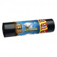 Saci menajeri / gunoi Fino LD, negru, 240L, 8 buc