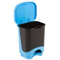 Cos gunoi Idea Plastor din polipropilena, cu pedala, forma cilindrica, diverse culori, 24L