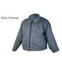 Jacheta de protectie Gantex EJ261 Desman, poliester si bumbac, gri + portocaliu, cu buzunare,  marimea 48