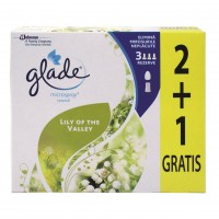 Odorizant camera Glade Microspray, rezerva, lacramioare, 3 x 10 ml