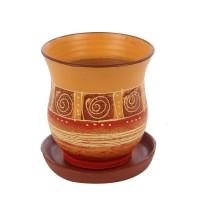 Ghiveci ceramic Lena, diverse culori, rotund, 12 x 13 cm
