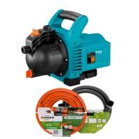 Pompa electrica Gardena Classic 3000/4, pentru apa gradina, 600 W + 20 m furtun 1/2 + conectori + set aspiratie 3.5 m