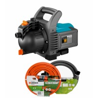 """Pompa electrica Gardena Classic 3500/4, pentru apa gradina, 800 W + 20 m furtun 1/2"""" + conectori + set aspiratie3.5 m"""