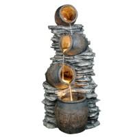Fantana arteziana Grunman MZ08359AB, decoratiune gradina, cu pompa recirculare apa, 60 x 45.5 x 117.5 cm
