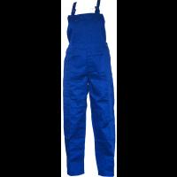 Pantaloni salopeta pentru protectie, tercot, albastru, marimea 48