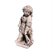 Statuie Fata cu sapa, decoratiune gradina, beton, 19 x 19 x 51 cm
