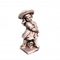Statuie Fata cu secera, decoratiune gradina, beton, 18 x 18 x 51 cm