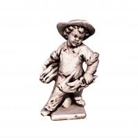 Statuie Baiat cu foarfeca, decoratiune gradina, beton, 19 x 19 x 51 cm