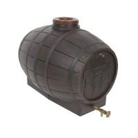 Butoi plastic alimentar, pentru vin Mantzaris, cu capac, 200 litri, maro D 62 cm + canea si aerisitor