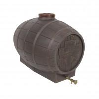 Butoi plastic alimentar, pentru vin Mantzaris, cu capac, 300 litri, maro D 72 cm + canea si aerisitor