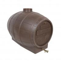 Butoi plastic alimentar, pentru vin Mantzaris, cu capac, 500 litri, maro D 85 cm + canea si aerisitor
