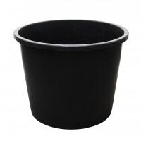 Butoi / cada plastic Plastor 24155, fara capac, 500 litri, negru D 105 cm