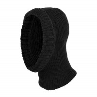Capison tricotat Interbabis EC30, bumbac + acril, negru