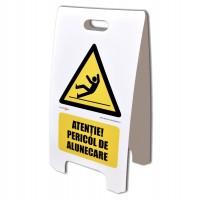 Panou avertizare pericol de alunecare Creative sign, polipropilena, forma dreptunghiulara, 55 x 30 cm