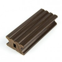 Sina WPC pentru dusumea din lemn compozit, wenge, K40 x 22 W, 4 x 2.2 x 300 cm