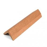 Profil inchidere pentru dusumea din lemn compozit, maro roscat, S38 x 38R, 3. 8 x 3.8 x 300 cm