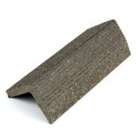Profil inchidere pentru dusumea din lemn compozit, wenge, S38 x 38G, 3. 8 x 3.8 x 300 cm