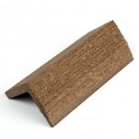 Profil inchidere pentru dusumea din lemn compozit, wenge, S38 x 38W, 3. 8 x 3.8 x 300 cm