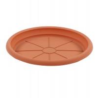 Farfurie ghiveci Dalia, plastic, teracota, D 15.3 cm